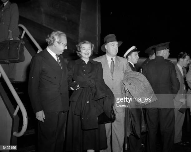 American actress Myrna Loy and her husband Gene Markey