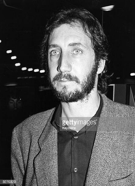Guitarist and songwriter Pete Townshend founder member of The Who arriving at the premiere of the film 'Quadrophenia' directed by Alan Parker for...