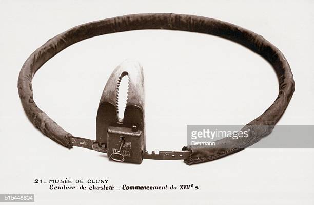 17th Century Chastity belt Used for prevention of sexual intercourse on the part of women wearing it Undated photograph