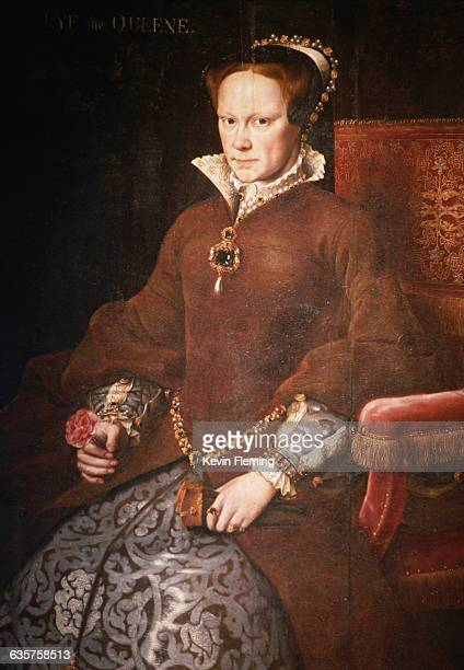 A 17th century Dutch portrait of Queen Mary I of England eldest daughter of Henry VIII She was nicknamed Bloody Mary for her persecution of English...