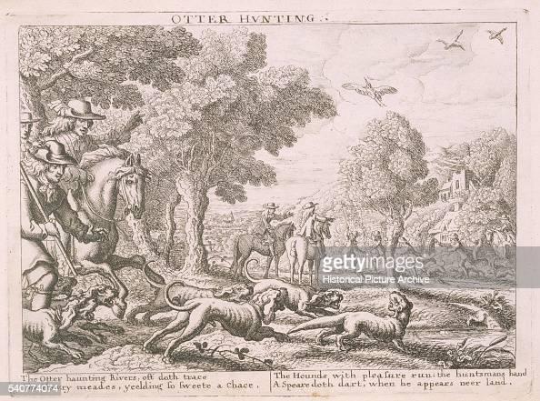 17th Century English Etching of Hunting Scene News Photo