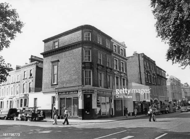 A 17th Century former inn on the corner of Glebe Place and King's Road Chelsea London 9th August 1973 The listed building occupied by two art...