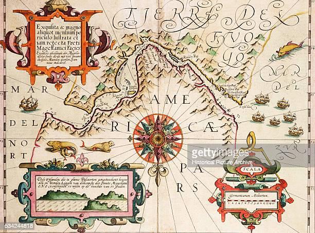 17th Century Map of the Strait of Magellan