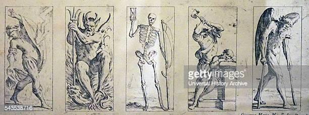 17th Century tarot cards by Giuseppe Maria Mitelli Originating from Bologna