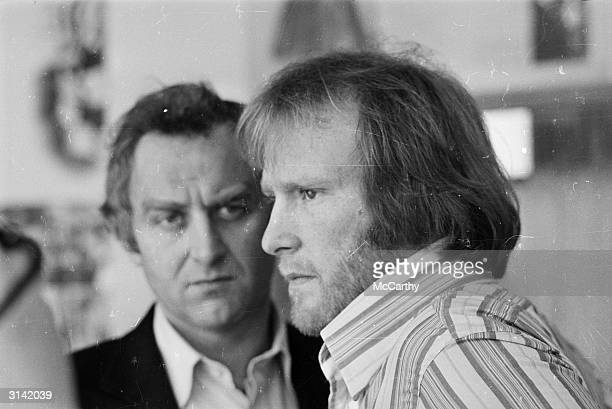 English actors John Thaw and Dennis Waterman in the police drama 'The Sweeney'