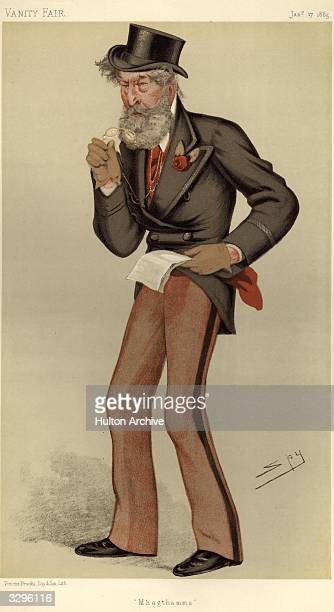 British politician Colonel James Patrick O'Gorman Mahon Caricature by Spy Vanity Fair Statesmen No 458 pub 1885