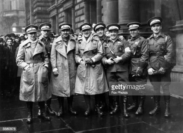 Members of a Scottish ambulance unit in Glasgow before their second visit to the Spanish Civil War