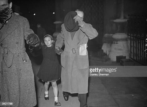 Helen Gordon with her father Lewis Daniel outside court during her custody case