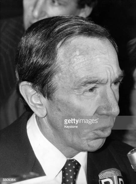 Warren Christopher US Under Secretary of State in the Carter administation outside the Ministry of Foreign Affairs Paris after talks with minister...