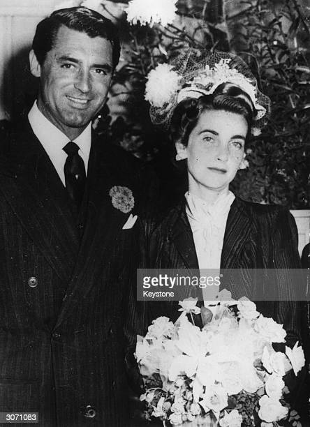 Film star Cary Grant with his bride the Woolworth heiress Barbara Hutton She was married seven times Cary Grant being her third husband