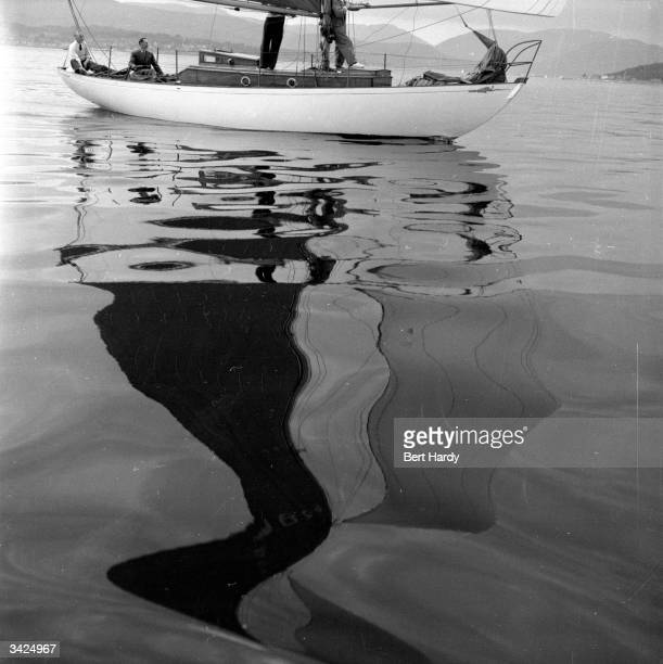 The yacht 'Nyachilwa' sails in a regatta near the Tail o' the Bank on the River Clyde Original Publication Picture Post 7210 Glasgow Sets Out For The...