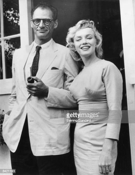 Film star Marilyn Monroe with her husband playwright Arthur Miller