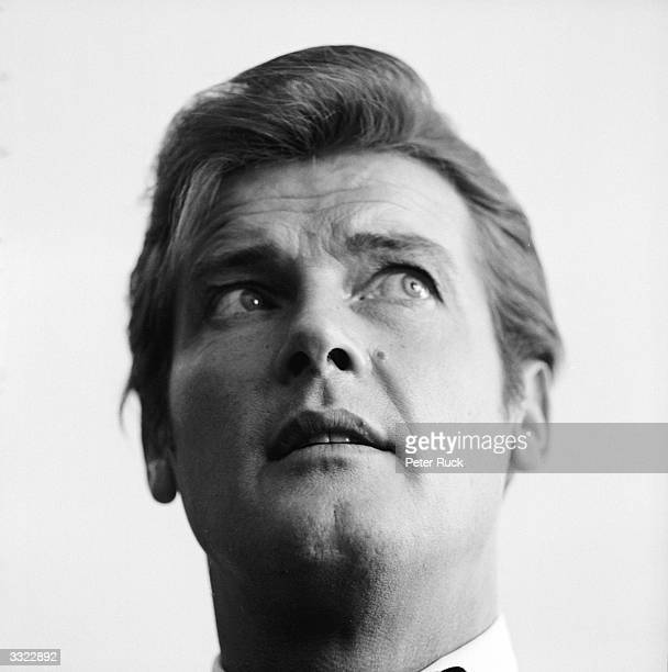 English film star Roger Moore well known for his roles as James Bond and the Saint
