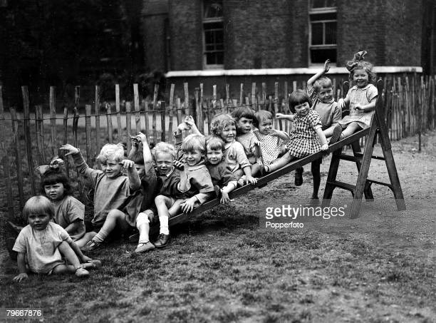 17th July Happy children having fun at Bloomsbury London foundling site playground
