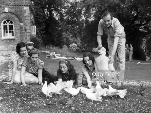 Left to right: American actress and dancer Adele Astaire, wife of Lord Charles Cavendish; Princess Polny; Tallulah Bankhead; Tilly Losch; and Cecil...