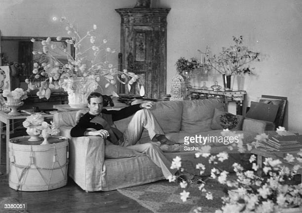 Photographer and designer Sir Cecil Beaton at home 'Ashcombe' in Wiltshire.