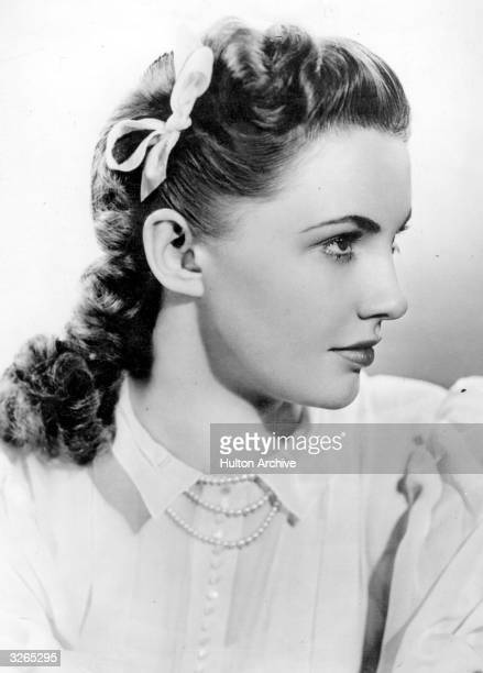 Joan Leslie the stage name of Joan Brodel the pretty American leading lady of the 40's typically playing girl next door roles