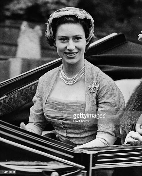 Princess Margaret is driven to the opening meeting of the Royal Ascot horse-racing event near Windsor in Berkshire.