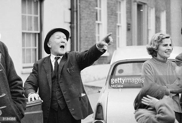 Arthur Duffy heckling during a speech by the British politician and Deputy Leader of the Labour Party George Brown during the general election...