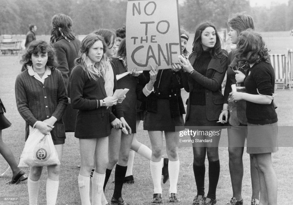 School Children Holding A Demonstration In Hyde Park