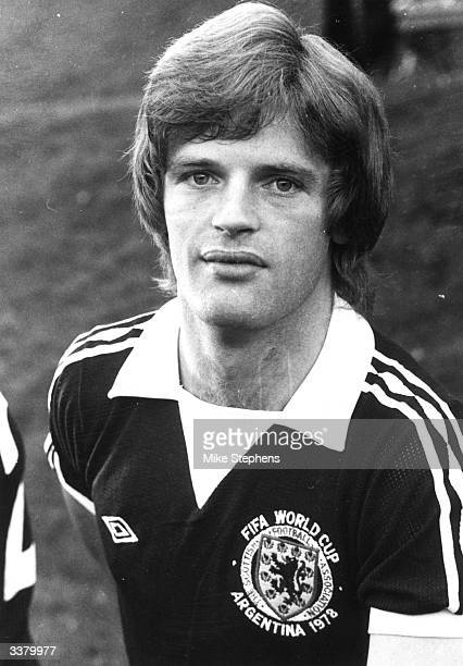 Gordon McQueen of Manchester United and the Scottish World Cup squad for 'Argentina '78' McQueen played for St Mirren Leeds and Manchester United...