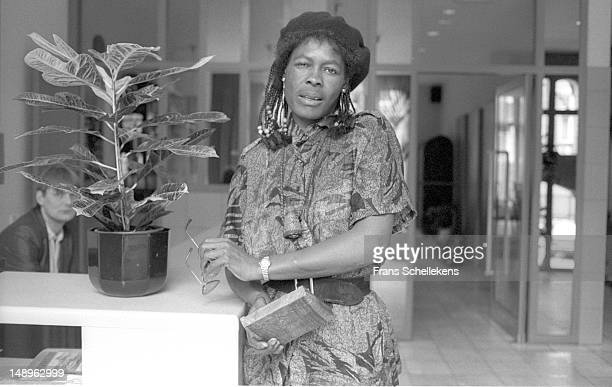 17th MAY: Zimbabwean Mbira player Stella Chiweshe posed in Amsterdam, Netherlands on 17th May 1987.