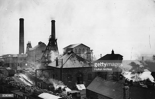 The Pleasley Colliery in Derbyshire back in operation after the General Strike