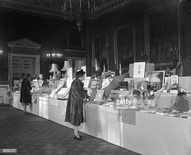 A selection of the many wedding gifts for Princess Elizabeth and Lieutenant Mountbatten on view at St James' Palace