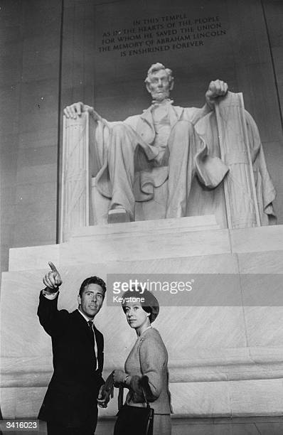 Princess Margaret and Lord Snowdon at the Lincoln memorial in Washington DC