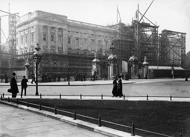 Buckingham Palace under reconstruction and nearing...