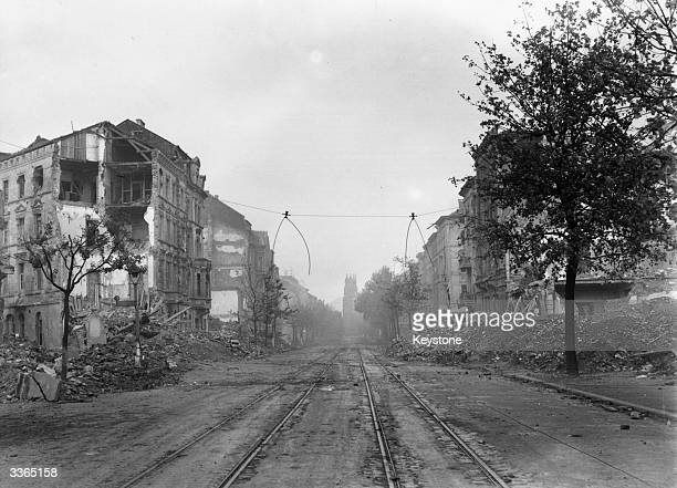 The German city of Aachen devastated by the allied advance Aachen is Germany's most Westerly city and the first city to fall in the allied invasion...