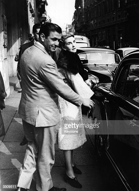 Barbara Hutton one of the world's richest women pictured with her new friend James Douglas son of the UnderSecretary of the US Air Force as they...