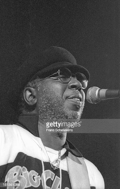 17th OCTOBER: American soul musician Curtis Mayfield performs live on stage at the Paradiso in Amsterdam, Netherlands on 17th October 1986.