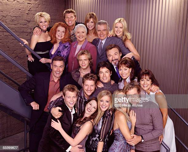 BEAUTIFUL 17th Season cast photo Back Row Schae Harrison Darlene Conley Winsor Harmon Susan Flannery Bobbie Eakes John McCook Maeve Quinlan Middle...