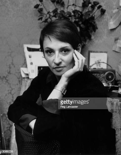 French singer, Barbara in her dressing-room.