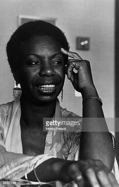 American jazz singer Nina Simone