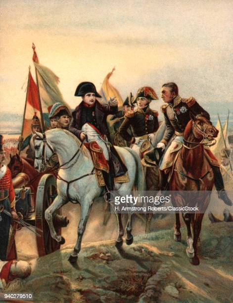 1800s 1807 NAPOLEON AT THE BATTLE OF FRIEDLAND BY HORACE VERNET A VICTORY FOR FRANCE ROUTING THE RUSSIANS IN EAST PRUSSIA
