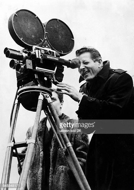 *Schauspieler USAhinter einer Filmkamera 1950ger jahre