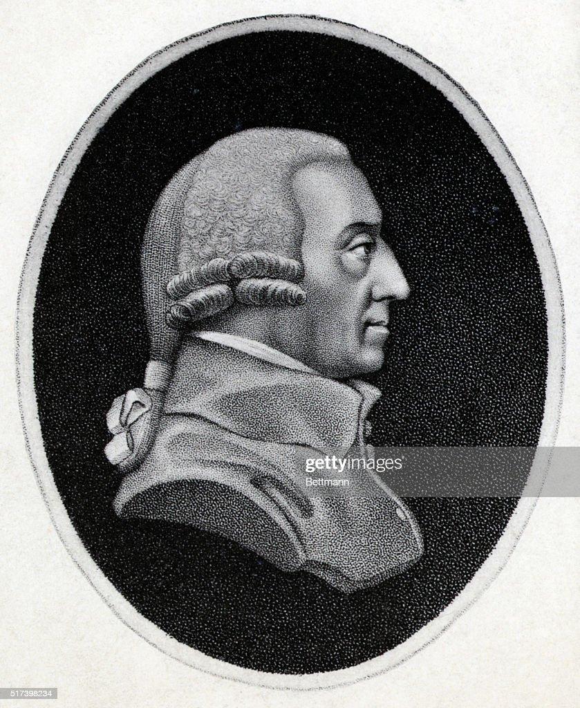 Engraving of Economist Adam Smith : News Photo