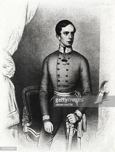 Kaiser von Österreich 1848-1916König von Ungarn seit-1867in jungen JahrenLithographie 1949