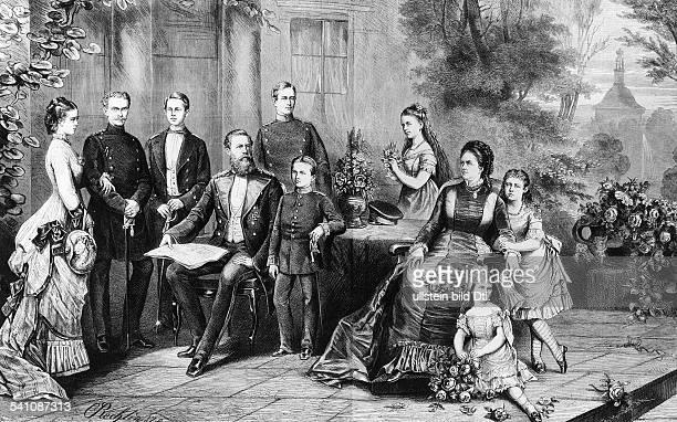 *1810183115061888Deutscher Kaiser und König von Preussen1888 im Kreise seiner Familie Charlotte Erbprinzessin von Meiningen Erbprinz von Meiningen...