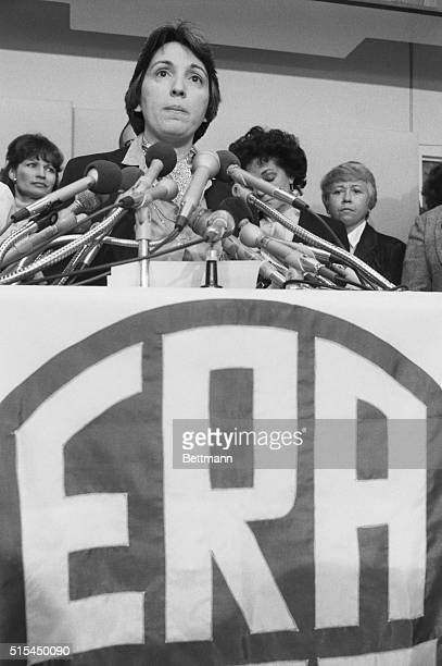 1/8/1982Washington DC Eleanor Smeal president of the National Organization for Women speaks at a press conference announcing that the organization...