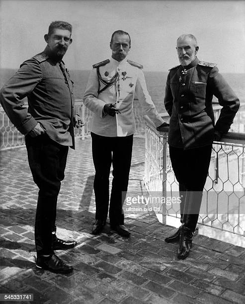 *18391914König 1866 bzw 18781914 Besuch in Russland 1914 vlnr König Karl I Zar Nikolaus II Kronprinz Ferdinand1914