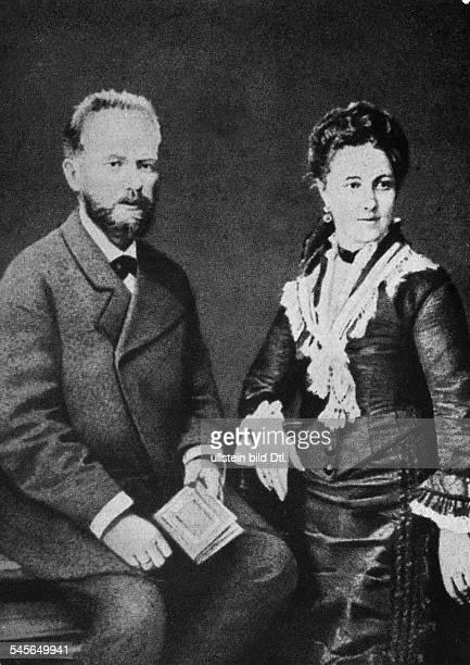 18401893Musiker Komponist Russlandmit seiner Ehefrau Antonia undatiert
