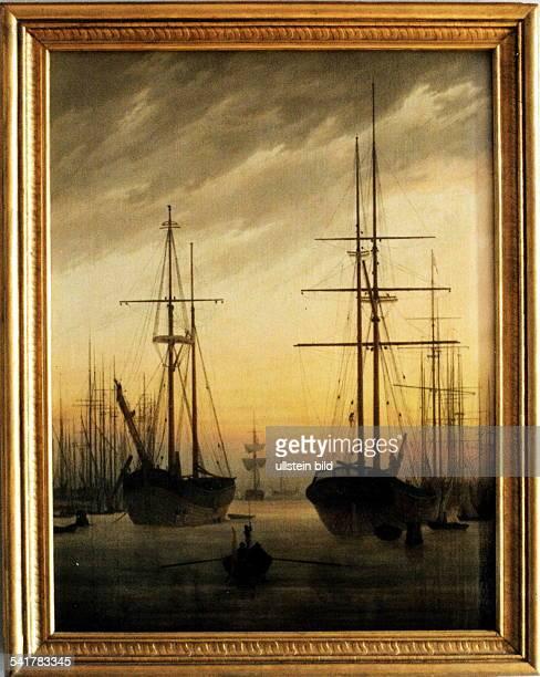 1840Maler, Graphiker, Deutschland`Ansicht eines Hafens' 1815/16Galerie der Romantik im SchlossCharlottenburg in Berlin- 1998
