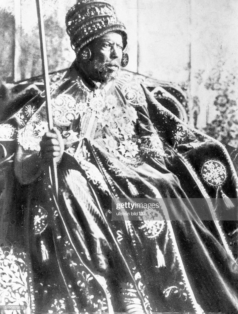 Menelik II. Kaiser von Äthiopien : News Photo