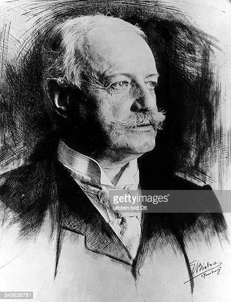 Politiker DReichskanzler 1900-1909PortraitZeichnung undatiert