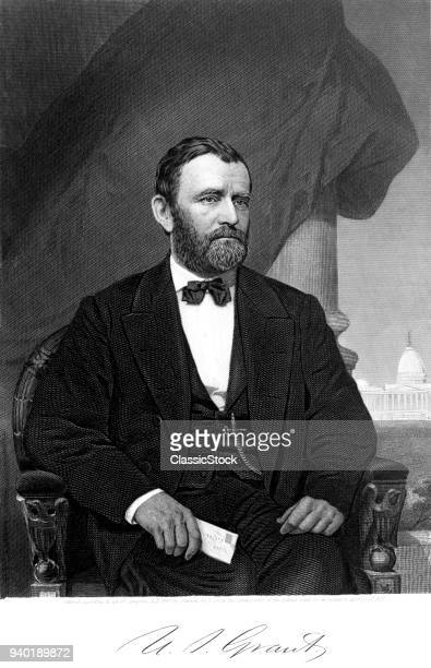 1860s 1869 PORTRAIT GENERAL ULYSSES S. GRANT WHEN HE WAS INAUGURATED AS 18TH PRESIDENT OF UNITED STATES
