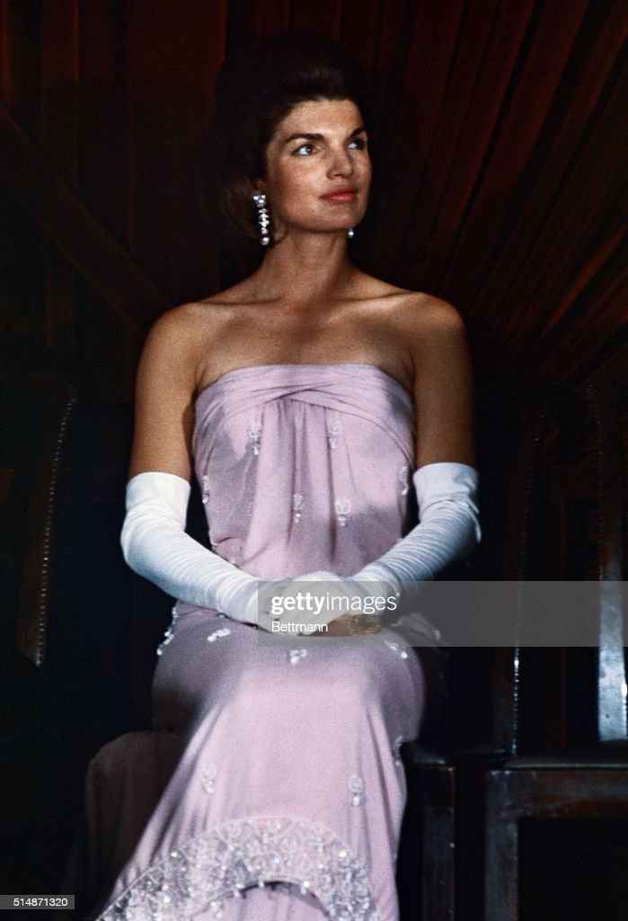 Jacqueline Kennedy in Strapless Gown : News Photo