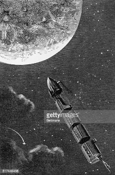 1873Jules Verne From the earth to the moon 'Arden applied the lighted match'